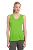 Women's Sleeveless Competitor V-neck Tee Lime Shock Thumbnail