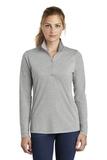 Women's Tri-Blend Wicking 1/4-Zip Pullover Light Grey Heather Thumbnail