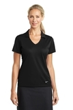 Women's Nike Golf Dri-FIT Vertical Mesh Polo Black Thumbnail