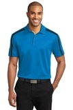 Silk Touch Performance Colorblock Stripe Polo Brilliant Blue with Black Thumbnail
