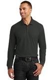 Long Sleeve Core Classic Pique Polo Deep Black Thumbnail