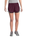 Women's Cadence Short Maroon with White and Black Thumbnail