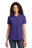 Women's 50/50 Pique Polo Purple Thumbnail
