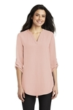Women's 3/4-Sleeve Tunic Blouse Rose Quartz Thumbnail