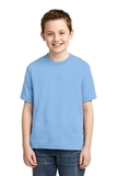 Youth 50/50 Cotton / Poly T-shirt Light Blue Thumbnail