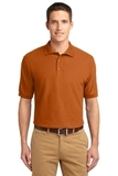 Extended Size Silk Touch Polo Shirt Texas Orange Thumbnail