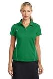 Women's Nike Golf Shirt Dri-FIT Sport Swoosh Pique Polo Lucky Green Thumbnail