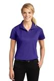 Women's Micropique Moisture Wicking Polo Shirt Purple Thumbnail