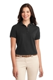 Women's Silk Touch Polo Shirt Black Thumbnail