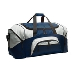 Colorblock Sport Duffel Navy with Grey Thumbnail