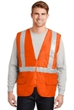 Ansi Class 2 Mesh Back Safety Vest Safety Orange Thumbnail