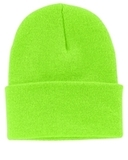 Knit Cap Neon Green Thumbnail