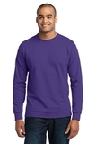 Long Sleeve 50/50 Cotton / Poly T-shirt Purple Thumbnail