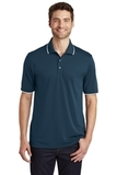 Dry Zone UV MicroMesh Tipped Polo River Blue Navy with White Thumbnail