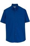 Men's Easy Care Poplin Shirt SS Royal Thumbnail