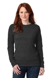 Women's French Terry Crewneck Sweatshirt Heather Dark Grey Thumbnail