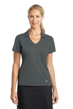 Women's Nike Golf Dri-FIT Vertical Mesh Polo Anthracite Thumbnail