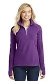 Women's Microfleece 1/2-zip Pullover Amethyst Purple Thumbnail