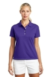 Women's Nike Golf Shirt Tech Basic Dri-FIT Polo Varsity Purple Thumbnail