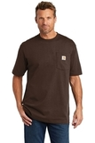Carhartt Tall Workwear Pocket Short Sleeve T-Shirt Dark Brown Thumbnail