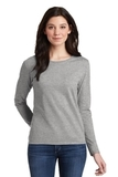Women's Heavy Cotton 100 Cotton Long Sleeve TShirt Sport Grey Thumbnail