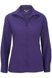 Women's Easy Care Poplin Shirt LS Purple Thumbnail
