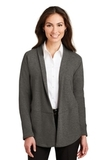 Women's Interlock Cardigan Charcoal Heather with Medium Heather Grey Thumbnail