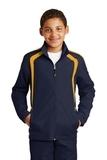 Youth Colorblock Raglan Jacket True Navy with Gold Thumbnail
