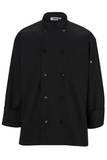 10 Pearl Button Chef Coat Black Thumbnail
