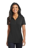Women's Cotton Touch Performance Polo Black Thumbnail