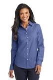 Women's Superpro Oxford Shirt Navy Thumbnail