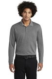 RacerMesh Long Sleeve Polo Grey Heather Thumbnail