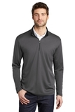 Silk Touch Performance 1/4-Zip Steel Grey with Black Thumbnail