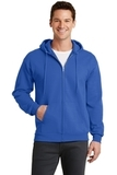 7.8-oz Full-zip Hooded Sweatshirt Royal Thumbnail