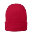 Fleece-Lined Knit Cap Athletic Red Thumbnail