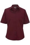 Women's Short Sleeve Service Shirt Burgundy Thumbnail