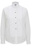 Women's Wing Collar Tuxedo Shirt White Thumbnail
