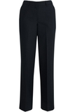 Redwood & Ross Signature Women's Wool Blend Flat Front Dress Pant Navy Pinstripe Thumbnail