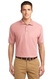 Extended Size Silk Touch Polo Shirt Light Pink Thumbnail