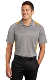 Heather Colorblock Contender Polo Vintage Heather with Gold Thumbnail
