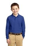 Youth Silk Touch Long Sleeve Sport Shirt Royal Thumbnail