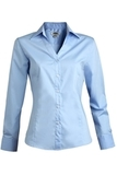 V-neck Tailored Stretch Dress Shirt Blue Thumbnail