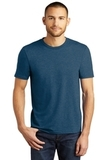 District Made Perfect Tri Crew Tee Heathered Neptune Blue Thumbnail