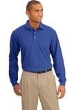 Rapid Dry Long Sleeve Polo Shirt Royal Thumbnail