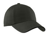 Sandwich Bill Cap With Striped Closure Charcoal with Black Thumbnail