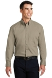 Long Sleeve Twill Shirt Khaki Thumbnail