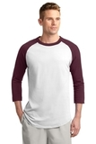 Colorblock Raglan Jersey White with Maroon Thumbnail