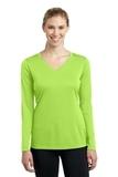 Women's Long Sleeve V-neck Competitor Tee Lime Shock Thumbnail