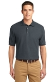 Extended Size Silk Touch Polo Shirt Steel Grey Thumbnail