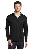 Silk Touch Performance 1/4-Zip Black with Steel Grey Thumbnail